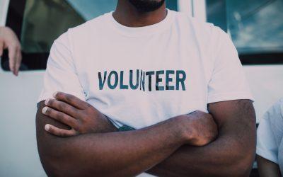 A t-shirt saying volunteer