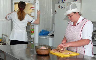 A woman making food