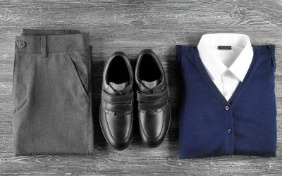 school uniform laid out
