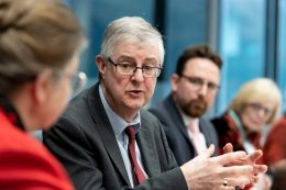 First Minister Mark Drakeford AM with Bevan Foundation and Carnegie UK Trust