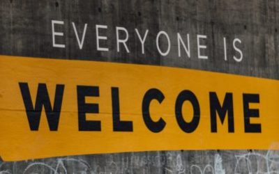 Sign saying everyone is welcome