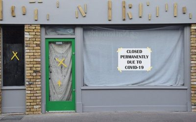 A closed business front