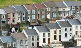 Terraced housing in Wales
