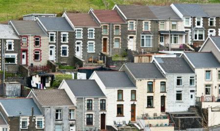 Terraced houses in Blaengwynfi, Wales