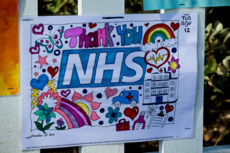 Signs thanking the NHS during the Covid-19 outbreak