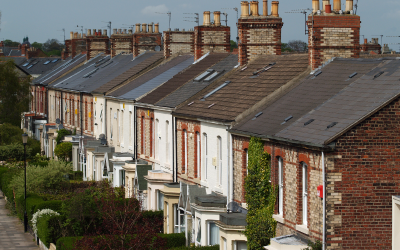 A street of terraced housing