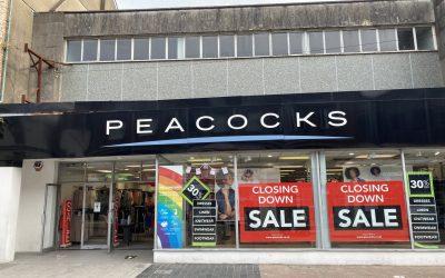 A peacocks shop merthyr