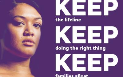 A keep the lifeline poster