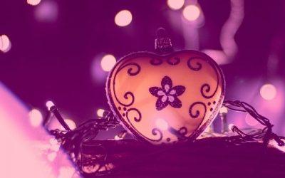 heart and christmas lights