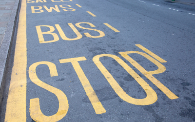 A photo of a bus stop