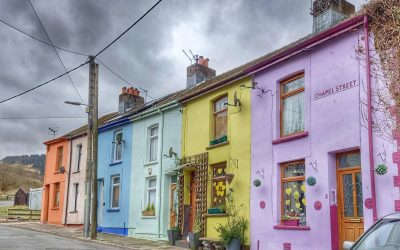 Some brightly coloured houses